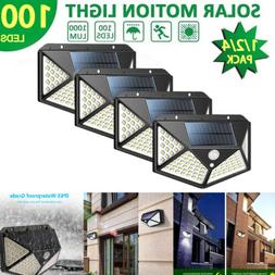 100 LED Solar Powered PIR Motion Sensor Light Outdoor Garden