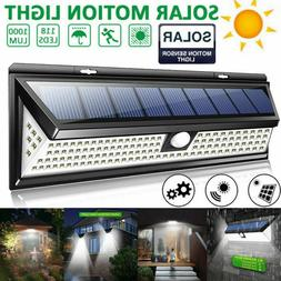 1000LM 118LED Solar PIR Motion Sensor Light Outdoor Garden Y