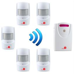 1byone 100M Wireless Driveway Alarm Motion Sensor Door Bell