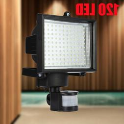 120 LED SMD Solar Powered Outdoor Motion Sensor Security Flo