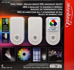 Sunbeam 3 Pack Multi-Colored Color Changing LED Power Failur