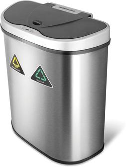 18 Gal Motion Sensor Recycling Bin Trash Can Container Auto