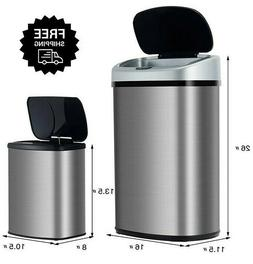 2 Can Sensor Trash Bin Automatic Motion Garbage Kitchen Wast