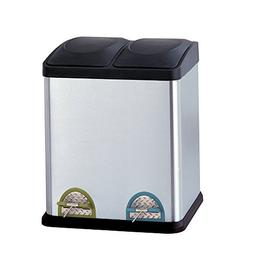 Organize It All 2-Compartment 30L Step-On Recycling Bin