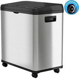 iTouchless 16 Gallon 2-Compartment Stainless Steel Touchless