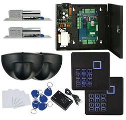 2 Doors Entry Secuirty Systems Kit & Exit Motion Sensor+Bolt