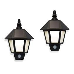 2 Pack Solar Outdoor Fence Lights - LED Security Wall Lights