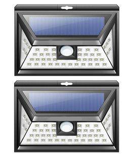 2X LED RV Motion Sensor Solar Exterior Porch Utility Light F