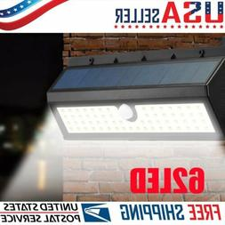 20/62 LED Solar Power Motion Sensor Wall Light Outdoor Garde