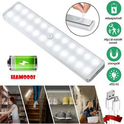 24 LED Motion Sensor Closet Light Wireless Night Cabinet USB