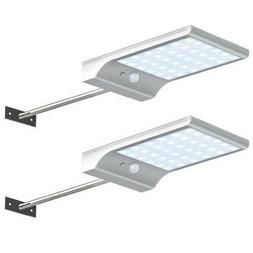 29 LED Solar Gutter Lights Extension Pole Outdoor Sensor Sec