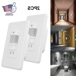 2PACK Auto On/Off Infrared PIR Occupancy Vacancy Motion Sens