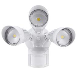 LEONLITE 30W 3-Head Motion Activated LED Outdoor Security Li