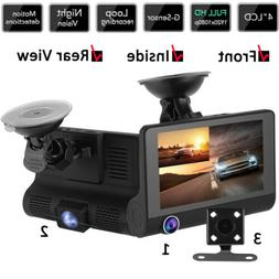 3-Channel Car DVR Vehicle HD Camera Dash Cam G-sensor Motion