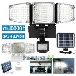 3-Head 22/188 LED Solar Security Motion Flood Light 1000LM O