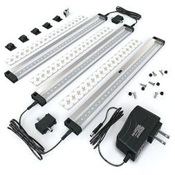 EShine 3 12 Inch Panels LED Dimmable Under Cabinet Lighting