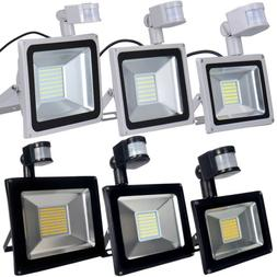 30W 50W 100W PIR Motion Sensor LED Flood Light Outdoor Secur