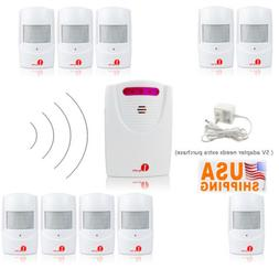 1byone 1000ft Wireless Driveway Alarm System Alert Infrared