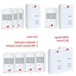 1byone 328ft Wireless Doorbell Chime PIR Sensor Alarm System