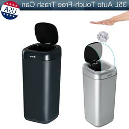 35L Auto Touch-Free Trash Can Smart Infrared Motion Sensor W
