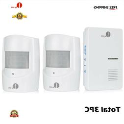 3pc 1byone Wireless Driveway Alert Alarm System Infrared Mot