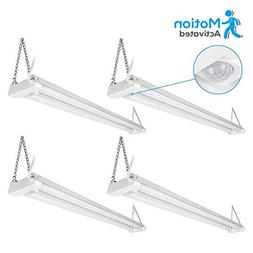 4 Pack 4ft Linkable LED Motion Activated Utility Shop Light