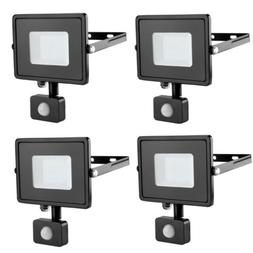 4pcs 30W PIR Motion Sensor LED Flood Light Outdoor Security