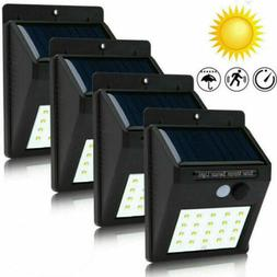 4x 30LED Solar Power Light PIR Motion Sensor Security Outdoo