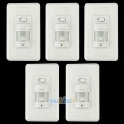 5 Pack Automatic PIR Occupancy Motion Sensor Light Switch Au