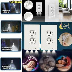 5x Outlet Wall Plate Led Night Lights Cover Duplex With Ambi