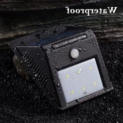6 LED Solar Wall Lights Outdoor Motion Sensor Spotlight Ligh