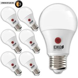 Sunco Lighting 6 Pack A19 LED Bulb with Dusk-to-Dawn, 9W=60W