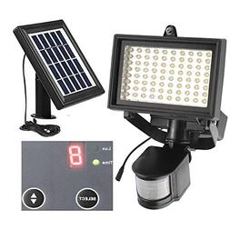 80 LED Outdoor Solar Motion Light Digitally Adjustable TIME