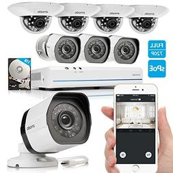 Zmodo 8CH 720P HD Network Security Camera System with 4x Out