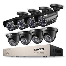 ZOSI 8CH Security Camera System 1080P HD-TVI Video DVR Recor