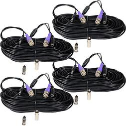 VideoSecu 4 Pack 100ft Video Power HD Security Camera Cables