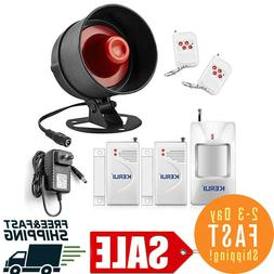 alarm home security system siren remote wireless