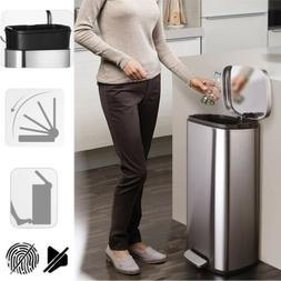 Auto Steel Touch-Free Trash Can Motion Step Sensor Silence W