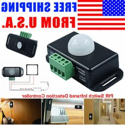 Automatic DC 12V-24V 8A Infrared PIR Motion Sensor Switch Fo