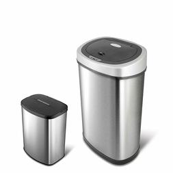 Automatic Sensor Trash Can Touchless Motion Garbage Set Of 2