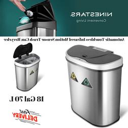 Automatic Touchless Infrared Motion Sensor Trash Can/Recycle