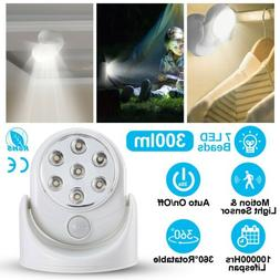 Battery Powered Wireless Motion Detector Auto Sensor Bulb LE
