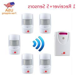 Wireless Driveway Alarm System Alert 5 Sensor + Receiver Kit