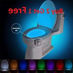 Bowl Bathroom Toilet Night LED 8 Color Lamp Sensor Lights Mo