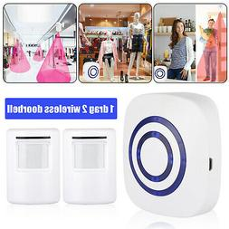 Home Security Wireless Outdoor Driveway Alarm Doorbell 2 Mot