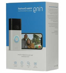 Ring Doorbell  Satin Nickel Motion-Activated Video NEW SEALE