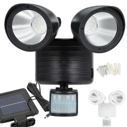 dual security detector solar spot light motion
