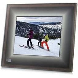 The Aura Frame Digital Smart Picture Frame - Charcoal with b