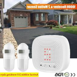 Home Security Wireless Driveway Alarm Doorbell Garage w/ 2Mo