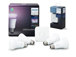 Philips Hue White and Color Ambiance LED Smart Bulb Starter